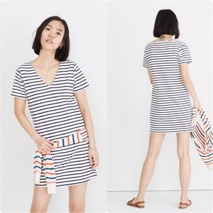 Madewell | Relaxed Tee Dress Yorktown Stripe Large